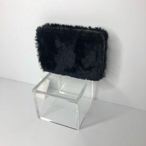 Handbags - 💋 BLACK FAUX FUR MINI WALLET 💋